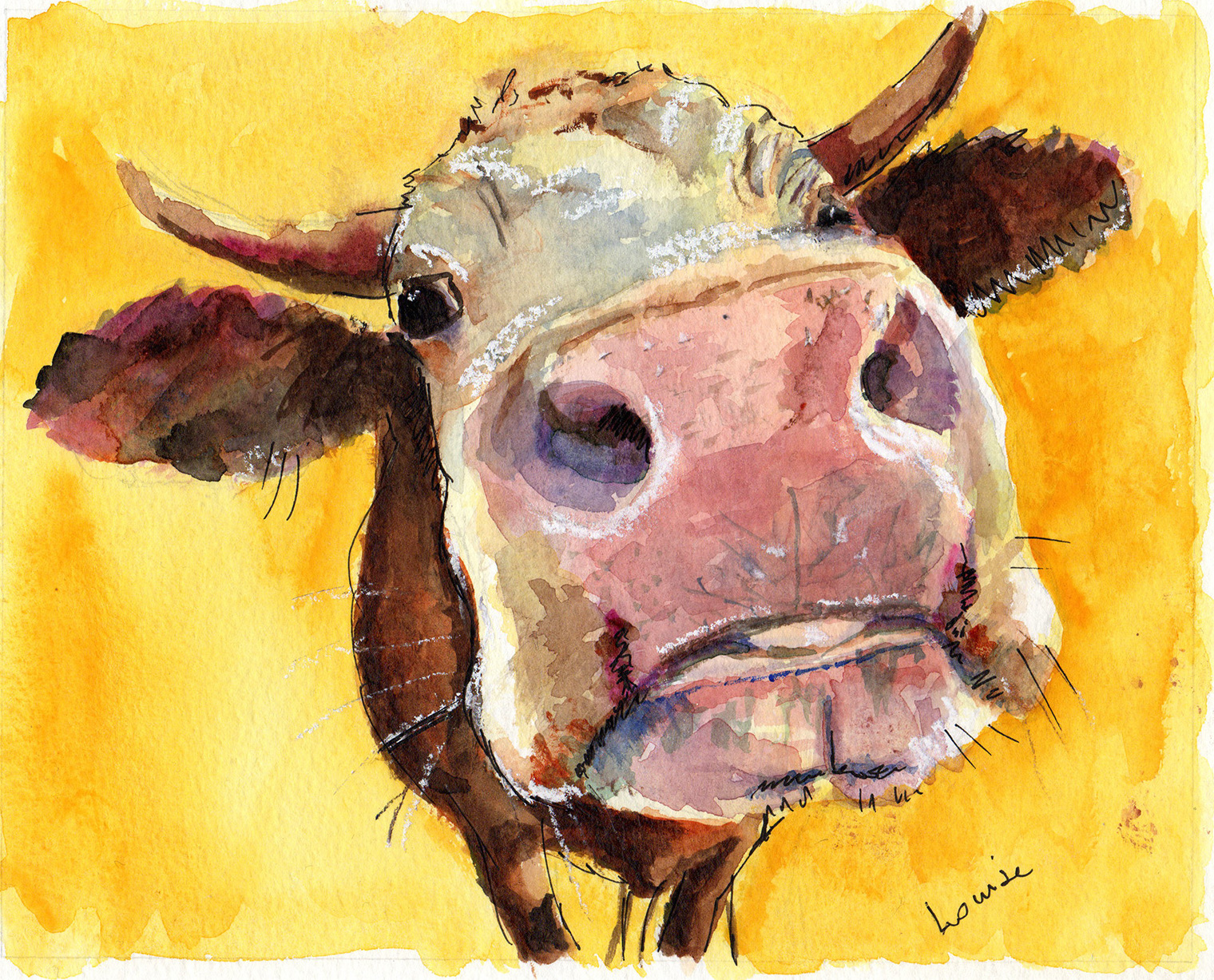 """Happy Cow"" by Louise Fletcher"